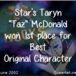 Awards - Summer 2002 - Best OC (1st Place) - Taz McDonald