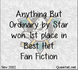 Awards - Winter 2002 - Best Het (1st Place) - Anything But Ordinary