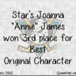 Awards - Winter 2002 - Best OC (3rd Place) - Annie James